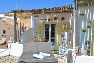 double studio sea side cycladic building