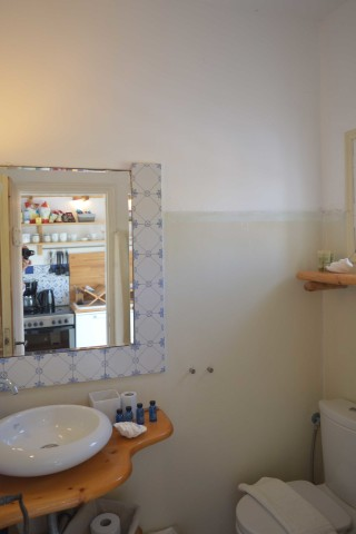 double studio sea side the bathroom area