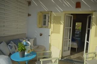 double studio sea side veranda sitting area