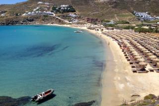 mykonos houses sea side in kalo livadi beach